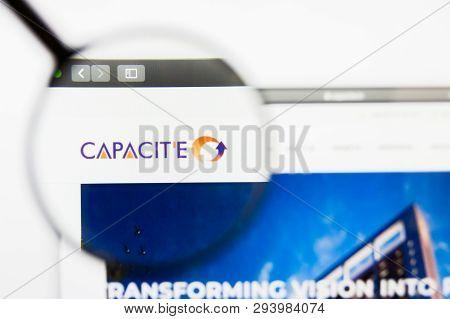 San Francisco, California, Usa - 29 March 2019: Illustrative Editorial Of Capacite Infraprojects Web