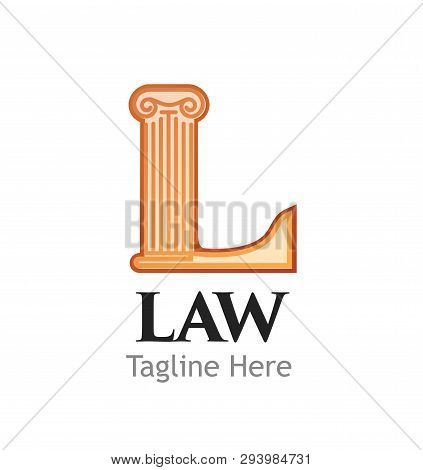 Logotype For Juridical Or Law Firm Or Business Isolated On White Background.