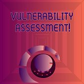 Writing note showing Vulnerability Assessment. Business photo showcasing defining identifying prioritizing vulnerabilities Volume Control Knob with Marker Line and Loudness Indicator. poster