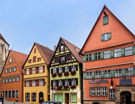 Dinkelsbühl - historic town in Central Franconia, Bavaria, southern Germany. Dinkelsbühl lies on the northern part of Romantic Road, famous touristic route