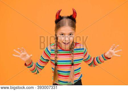 Preparing For Party. Small Demon. Playful Demon Girl. Little Demon Inside. Girlish Temper. Cute But