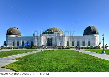 Los Angeles, Ca - July 26, 2020: Famous Griffith Observator In Los Angeles' Griffith Park During The