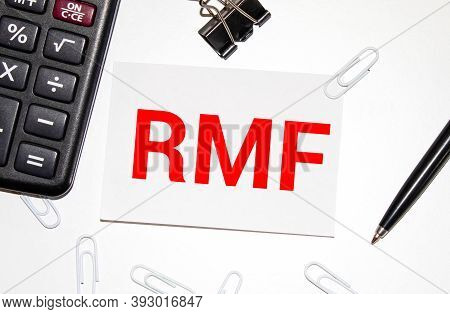 Rmf Text On Wooden, Business And Startup Concept