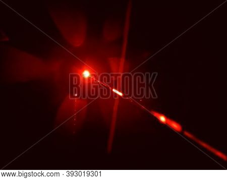 An image of a red laser beam