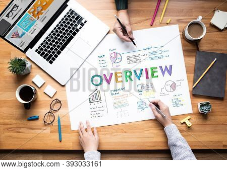 Business Overview Or Outlook Of Goal And Plan Conceptss.teamwork Working With Marketing Strategy.top