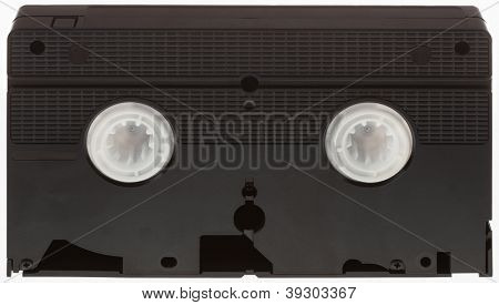 Classic VHS Videotape Isolated on White Background