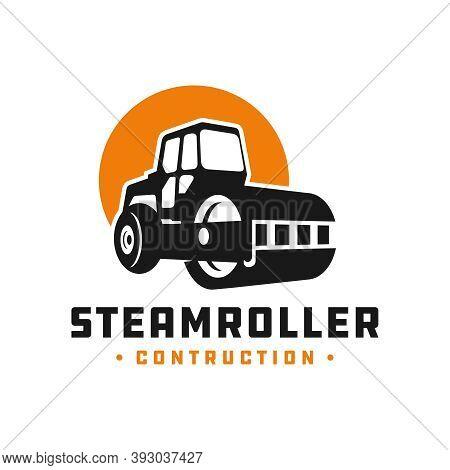 Steamroller Construction Tool Logo Design Or Brand