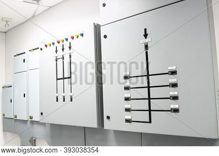 Main Distribution Board Control The Power Failure From The Building Switch Panel Of Power Plant. Con