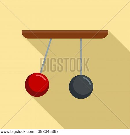 Gravity Sphere Stand Icon. Flat Illustration Of Gravity Sphere Stand Vector Icon For Web Design