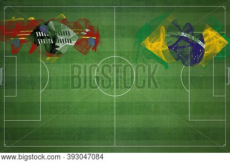 Eswatini Vs Brazil Soccer Match, National Colors, National Flags, Soccer Field, Football Game, Compe