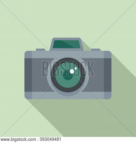 French Photo Camera Icon. Flat Illustration Of French Photo Camera Vector Icon For Web Design
