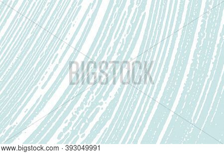 Grunge Texture. Distress Blue Rough Trace. Dazzling Background. Noise Dirty Grunge Texture. Alluring