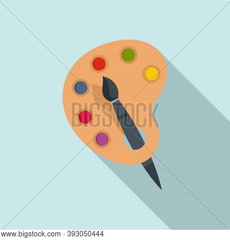 French Color Palette Icon. Flat Illustration Of French Color Palette Vector Icon For Web Design