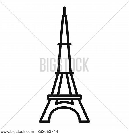 French Eiffel Tower Icon. Outline French Eiffel Tower Vector Icon For Web Design Isolated On White B