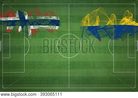 Norway Vs Colombia Soccer Match, National Colors, National Flags, Soccer Field, Football Game, Compe