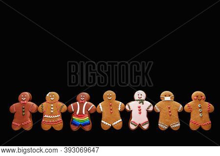 Social Diversity. Conceptual Background. Peace Tolerance. Different Gender Multiethnic Gay Gingerbre