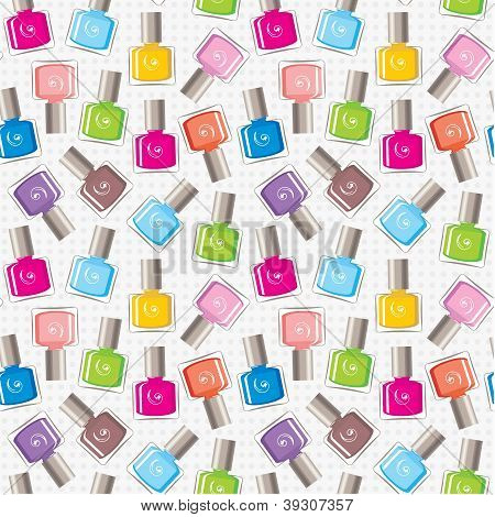 Image of seamless pattern of nail polish. poster