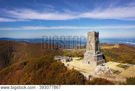 Shipka, Bulgaria 22 Oct 2020: Shipka Monument Is A Monumental Construction, Located At Shipka Peak I