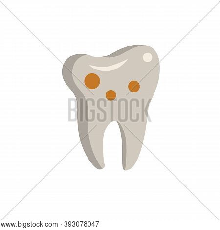 Caries Icon. Simple Element From Dentistry Collection. Creative Caries Icon For Web Design, Template