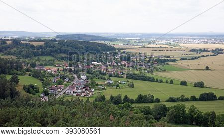 Bohemian Paradise, Czech Republic On July 10, 2020: View At The Bohemian Paradise Near Hruba Skala C