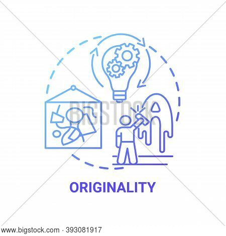 Originality Concept Icon. Creative Thinking Skills. Not Cloned Things From Other Projects. Unique Th