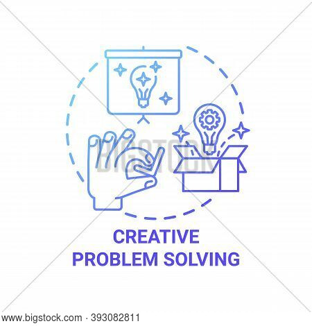 Creative Problem Solving Concept Icon. Creative Thinking Types. Dealing With Difficult Troubles. Har