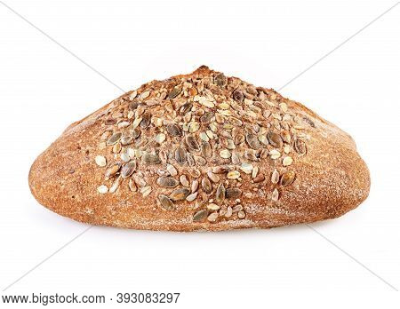 Freshly Bread Isolated On White Background. Bread