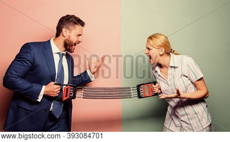 Man Against Woman. Battle Between Male And Female. Double Standards In Society. Partners Conflict. F