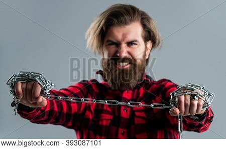 You Have A Purpose. Concept Of Freedom. Man Chained Problems. Liberation From Slavery. Perfect Male