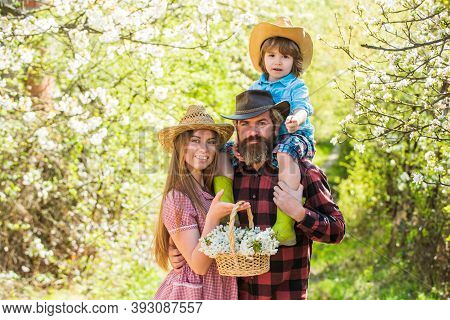 Outdoor Activities To Make The Most Of Spring. Happy Family On Fresh Air Outdoor. Spring Break Vacat
