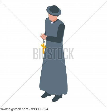 Pastor Priest Icon. Isometric Of Pastor Priest Vector Icon For Web Design Isolated On White Backgrou
