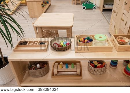 Montessori school for the learning of children