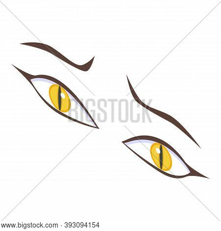 Scared Eyes Icon. Isometric Of Scared Eyes Vector Icon For Web Design Isolated On White Background