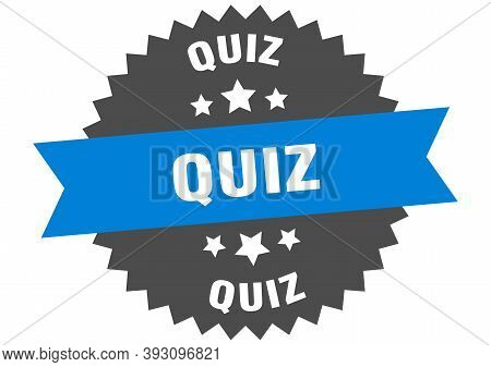 Quiz Round Isolated Ribbon Label. Quiz Sign