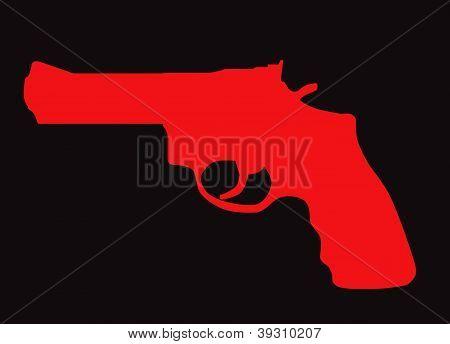 Hand Gun Silhouette