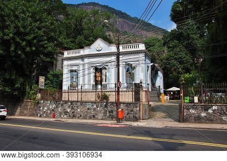 Rio De Janeiro, Brazil - 08 May 2016: The Train To Corcovado In Rio De Janeiro, Brazil