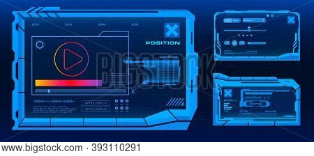 Modern Futuristic Video Player. New Media Player. Digital Template. Audio-video Player. Screen Of Th