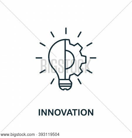 Innovation Line Icon. Simple Element From Digital Disruption Collection. Outline Innovation Icon Ele