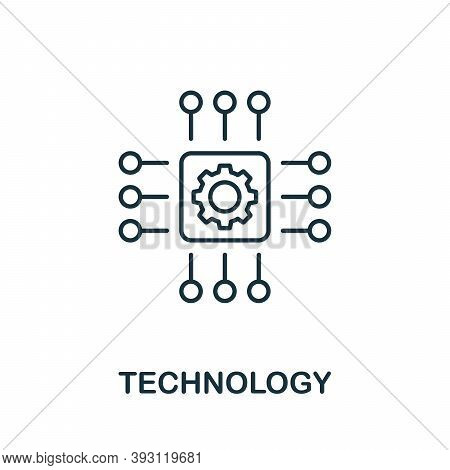 Technology Line Icon. Simple Element From Digital Disruption Collection. Outline Technology Icon Ele