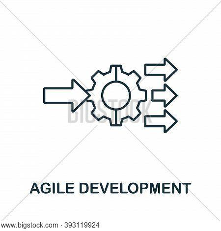 Agile Development Line Icon. Simple Element From Digital Disruption Collection. Outline Agile Develo