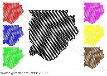 Acadia County, Louisiana (u.s. County, United States Of America, Usa, U.s., Us) Map Vector Illustrat