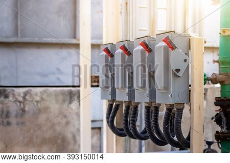 Electric Control Cabinet Substation In Factory,electricity Control Switch On-off