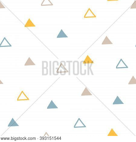 Triangle Baby Scandinavian Pastel Colors Vector Seamless Pattern