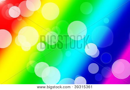 Rainbow Party Background of Bubbles