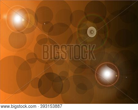 Abstract Terra Cotta Orange Background With Bubbles