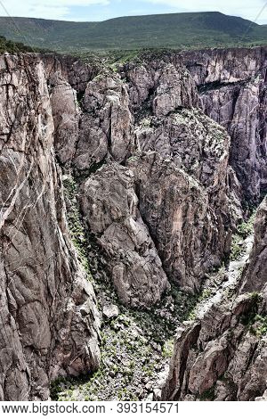 Black Canyon Of The Gunnison National Park In Usa. Colorado Nature.