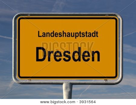 General City Entry Sign Of Dresden