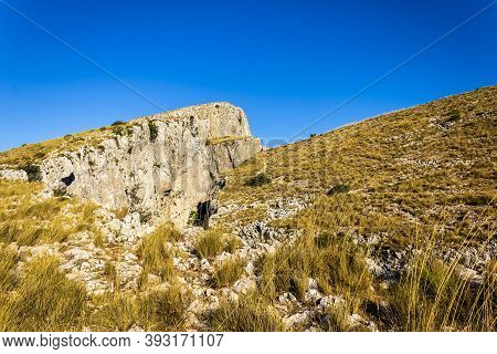View Of The Chasms Of Partagat In The Mountain Of Aitana.