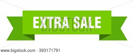 Extra Sale Ribbon. Extra Sale Isolated Band Sign. Extra Sale Banner