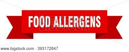 Food Allergens Ribbon. Food Allergens Isolated Band Sign. Food Allergens Banner